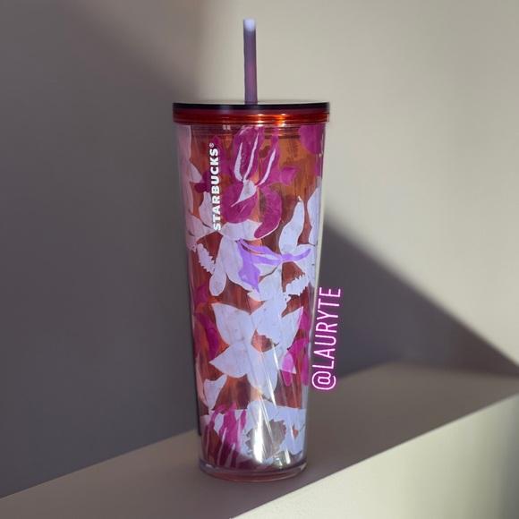 Starbucks 2021 Spring Purple Floral Tumbler
